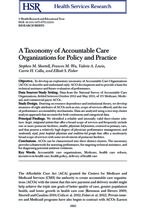 ACO taxonomy - health services research