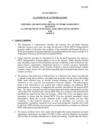 Attachment C of MTW Standard Agreement