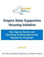 new york state - supportive housing initiative - 2016 first RFP