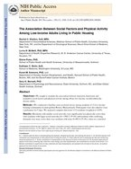 association between social factors and physical activitiy among public housing residents
