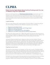 Public Housing Capital Needs Study - 2010