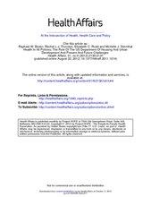 HealthAffairsArticle-HousingInAllPolicies