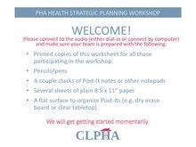 CLPHA Master Powerpoint Presentation - 21 Feb 2018