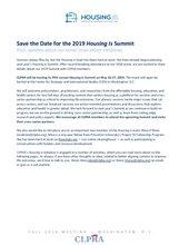 Housing Is Update - Fall 2018 mtg FINAL
